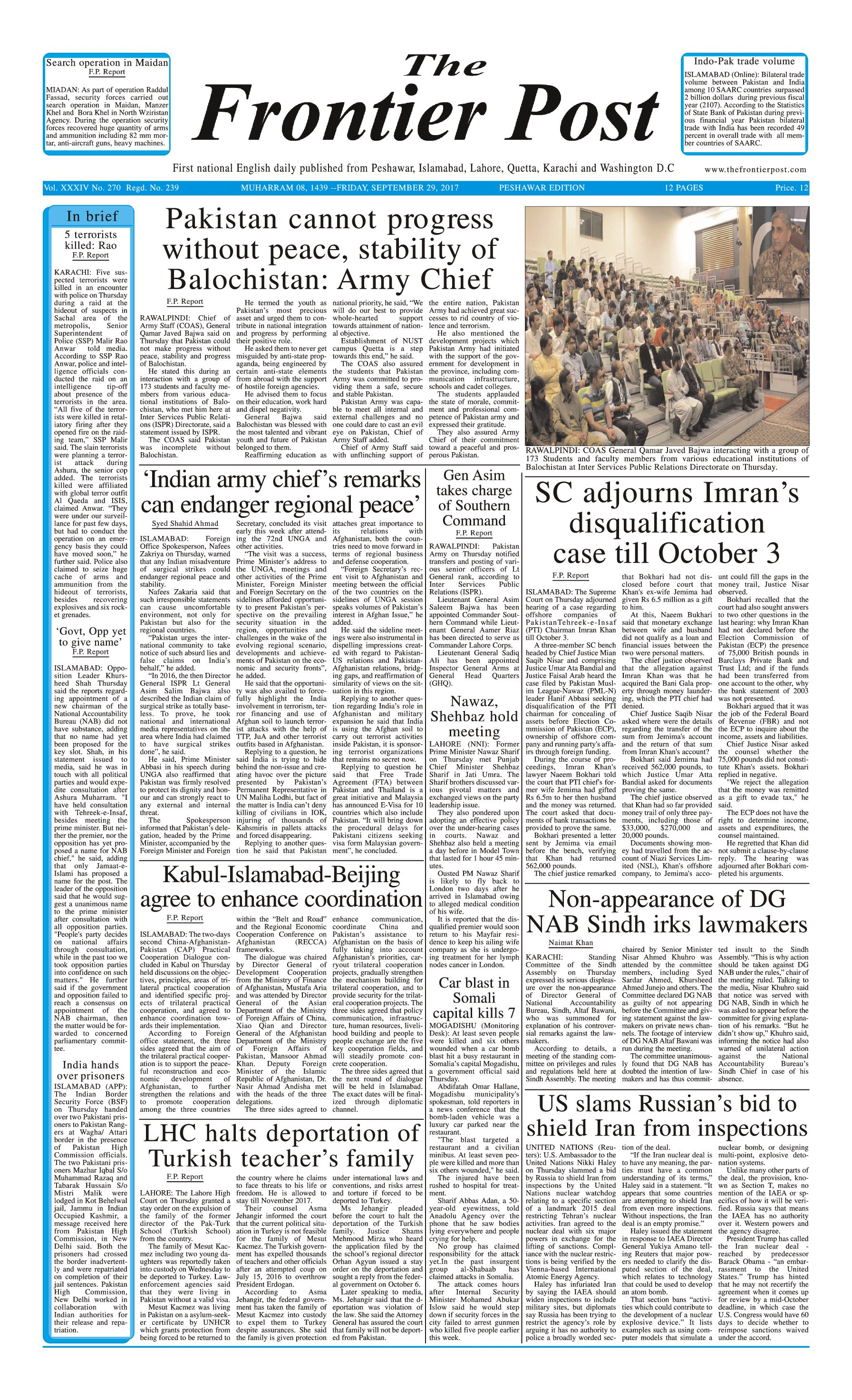 Front Page 29-09