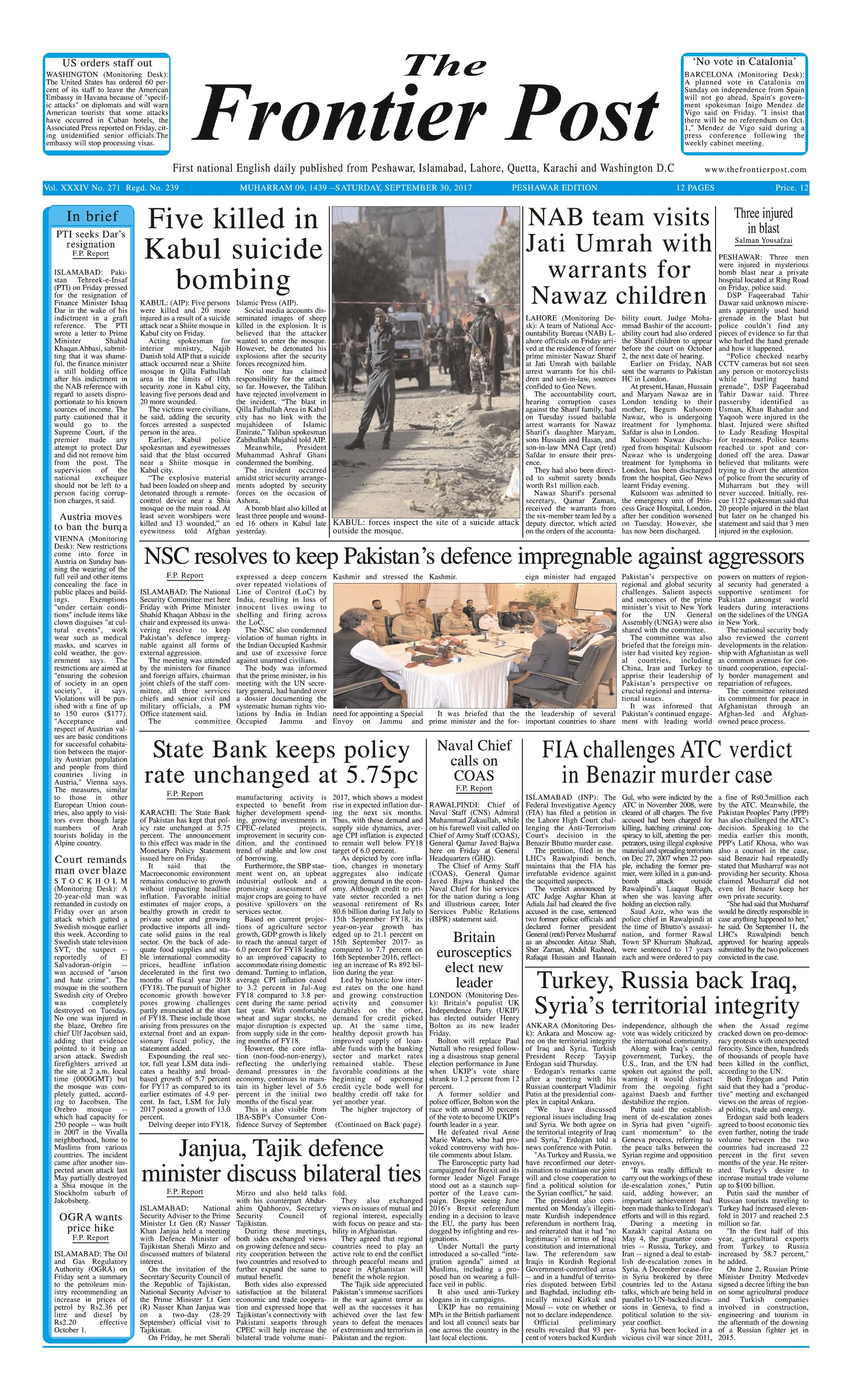Front Page 30-09