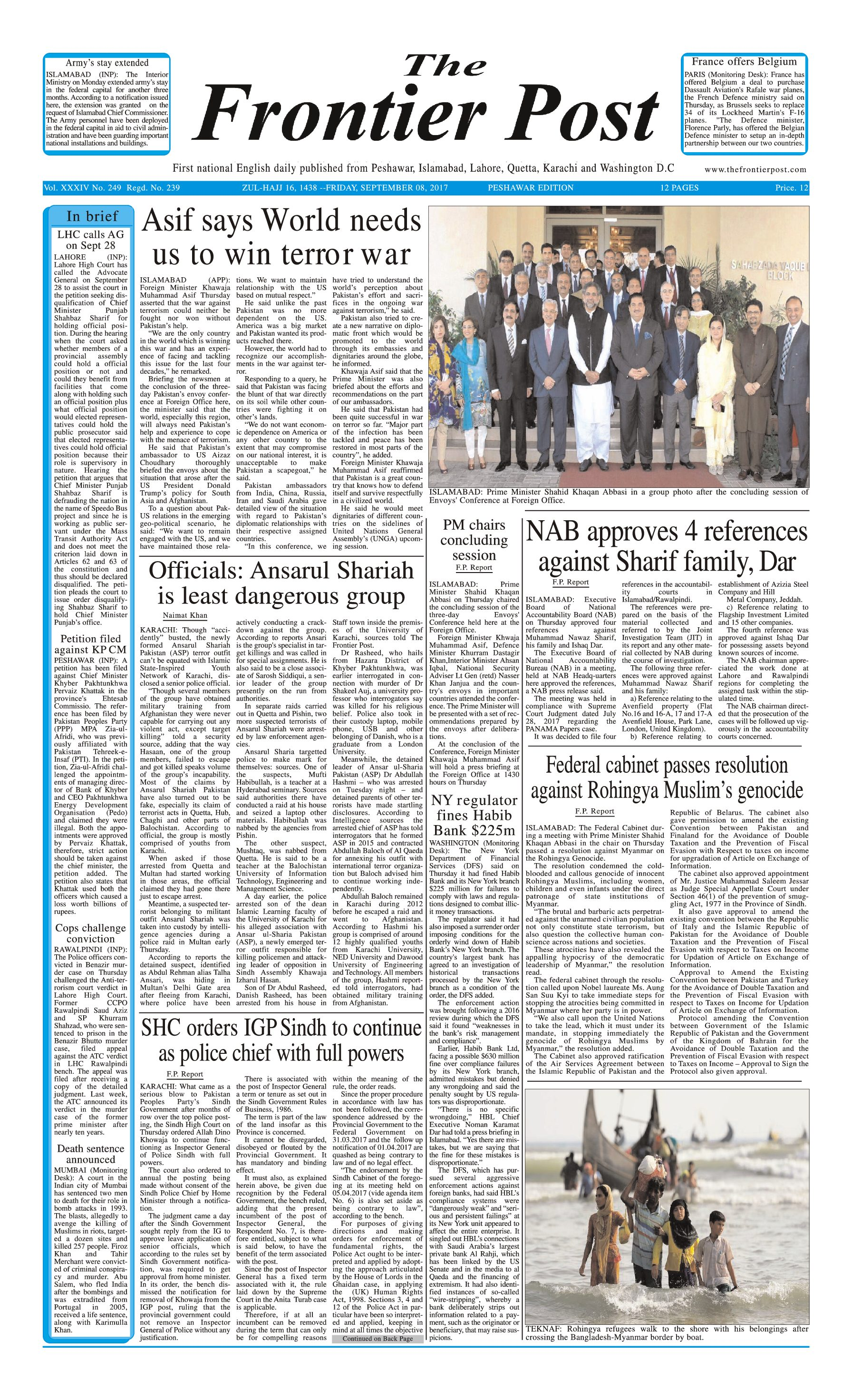 Front Page 8-09