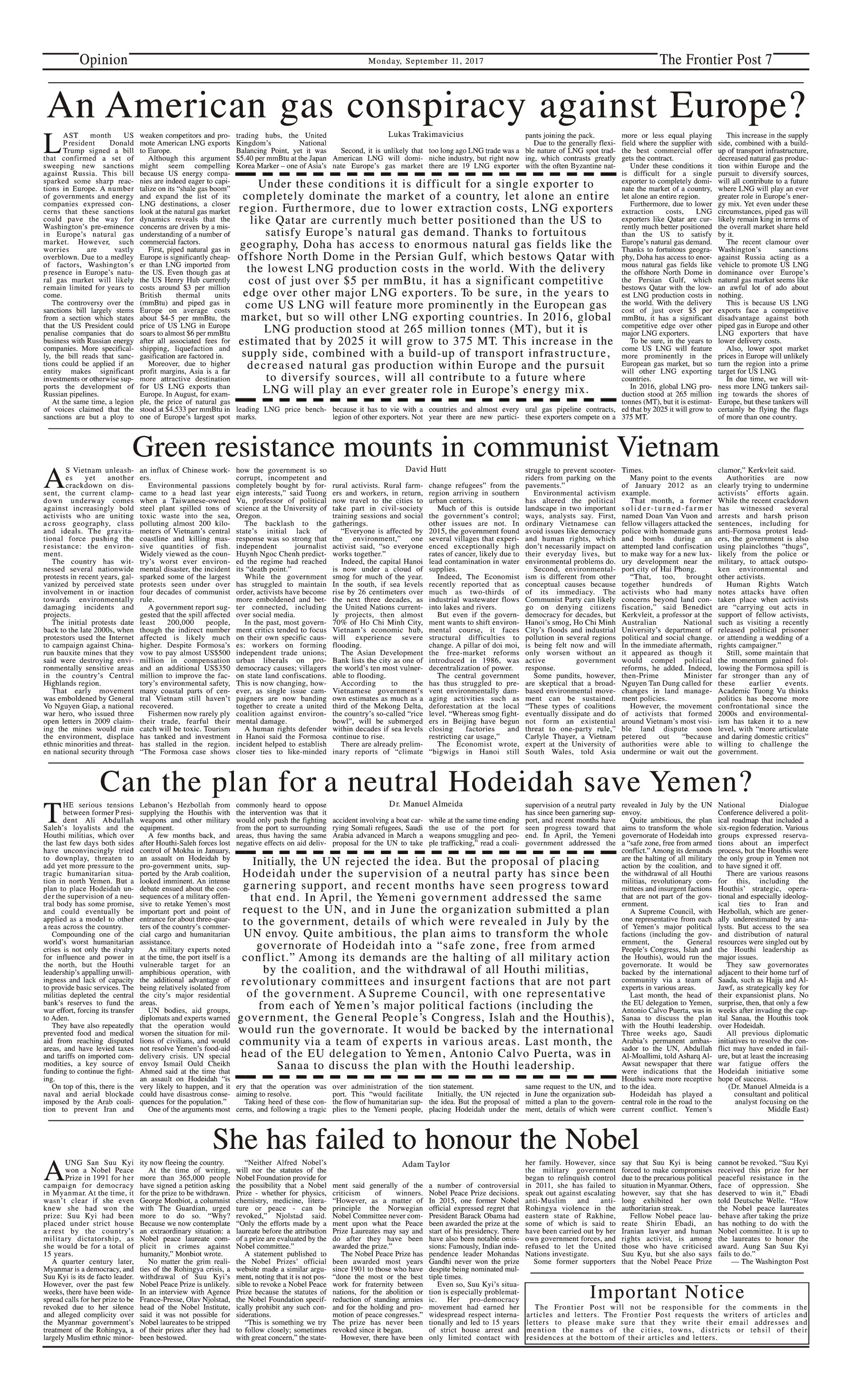 Opinion Page 11-09