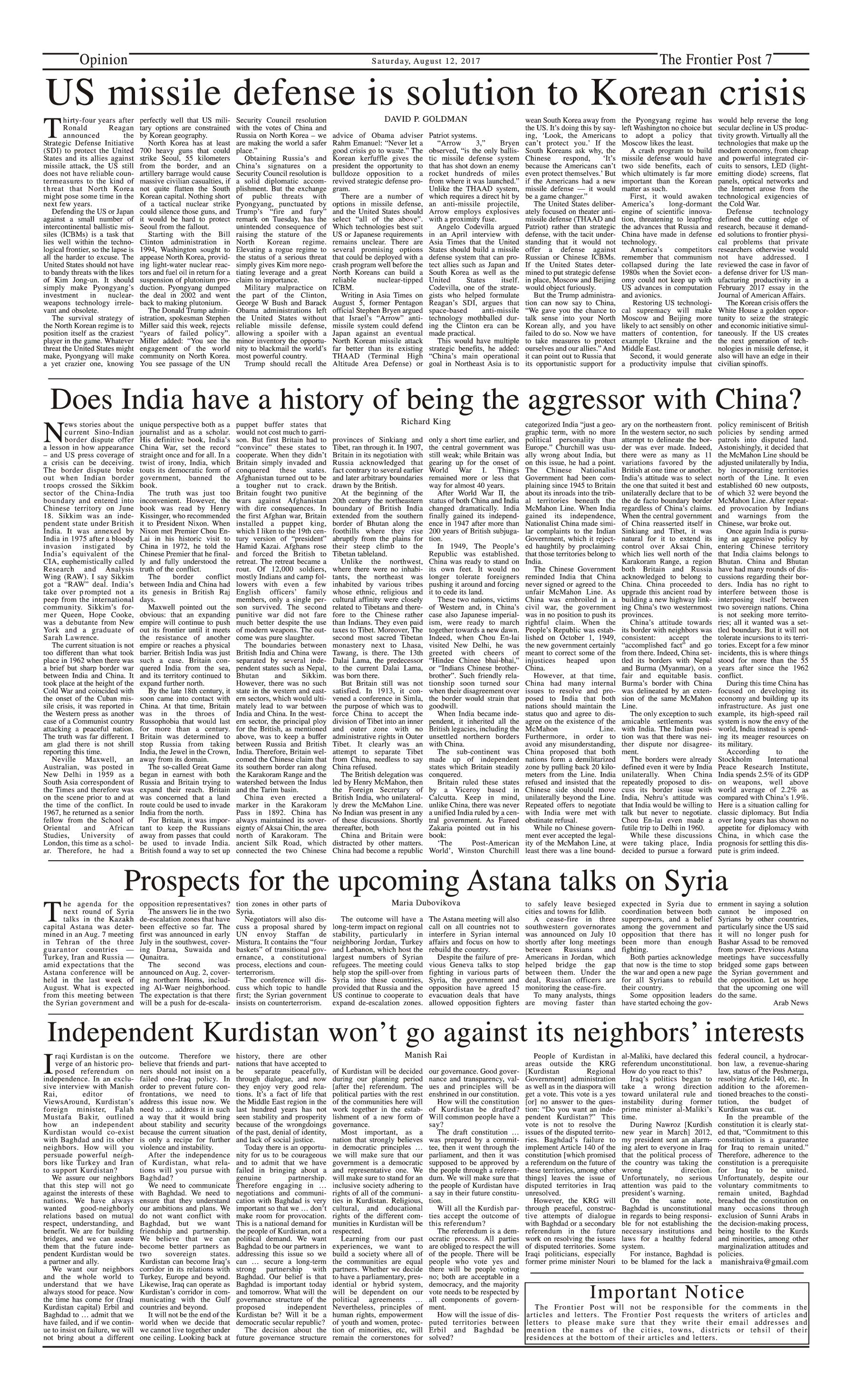 Opinion Page 12