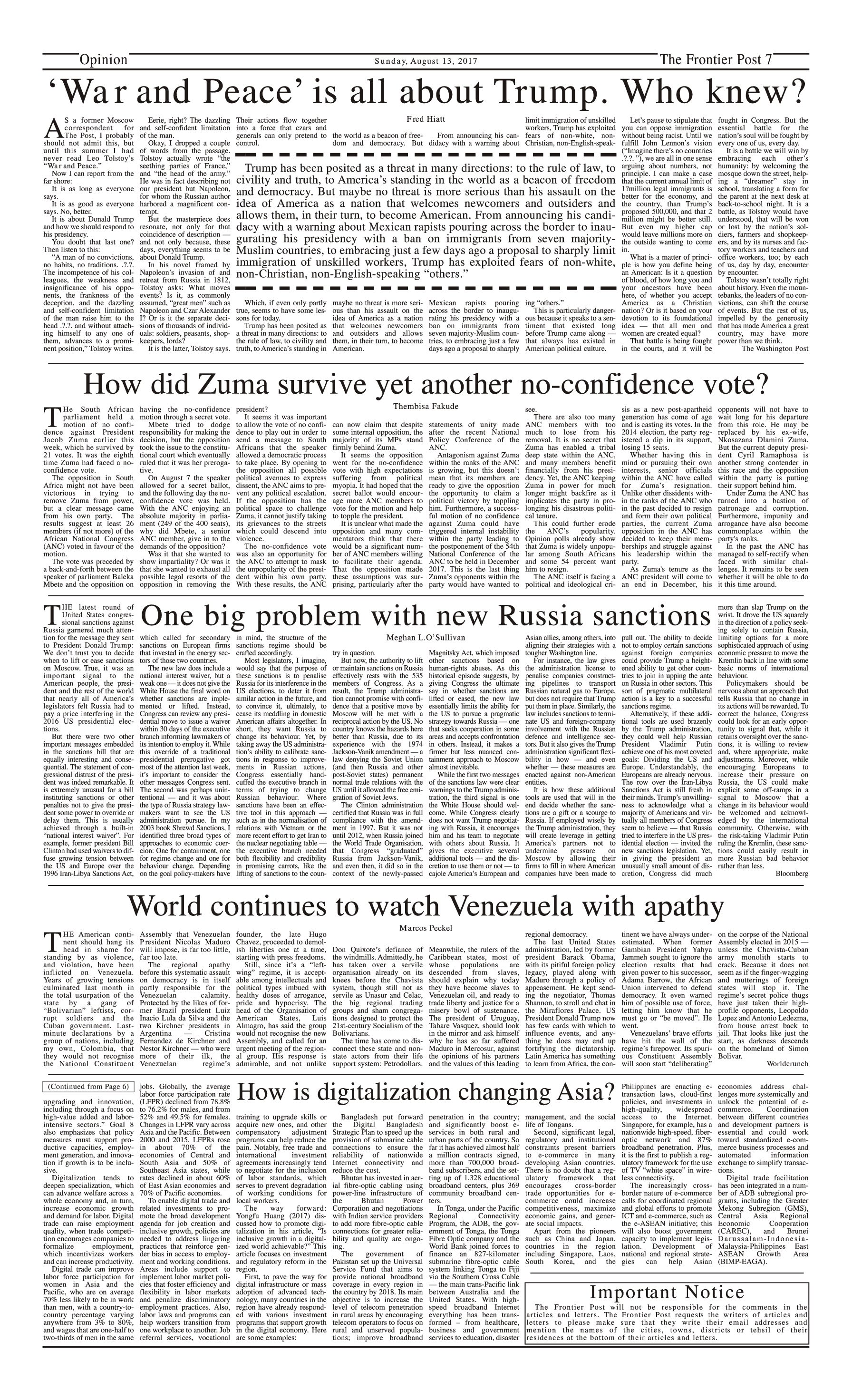 Opinion Page 13