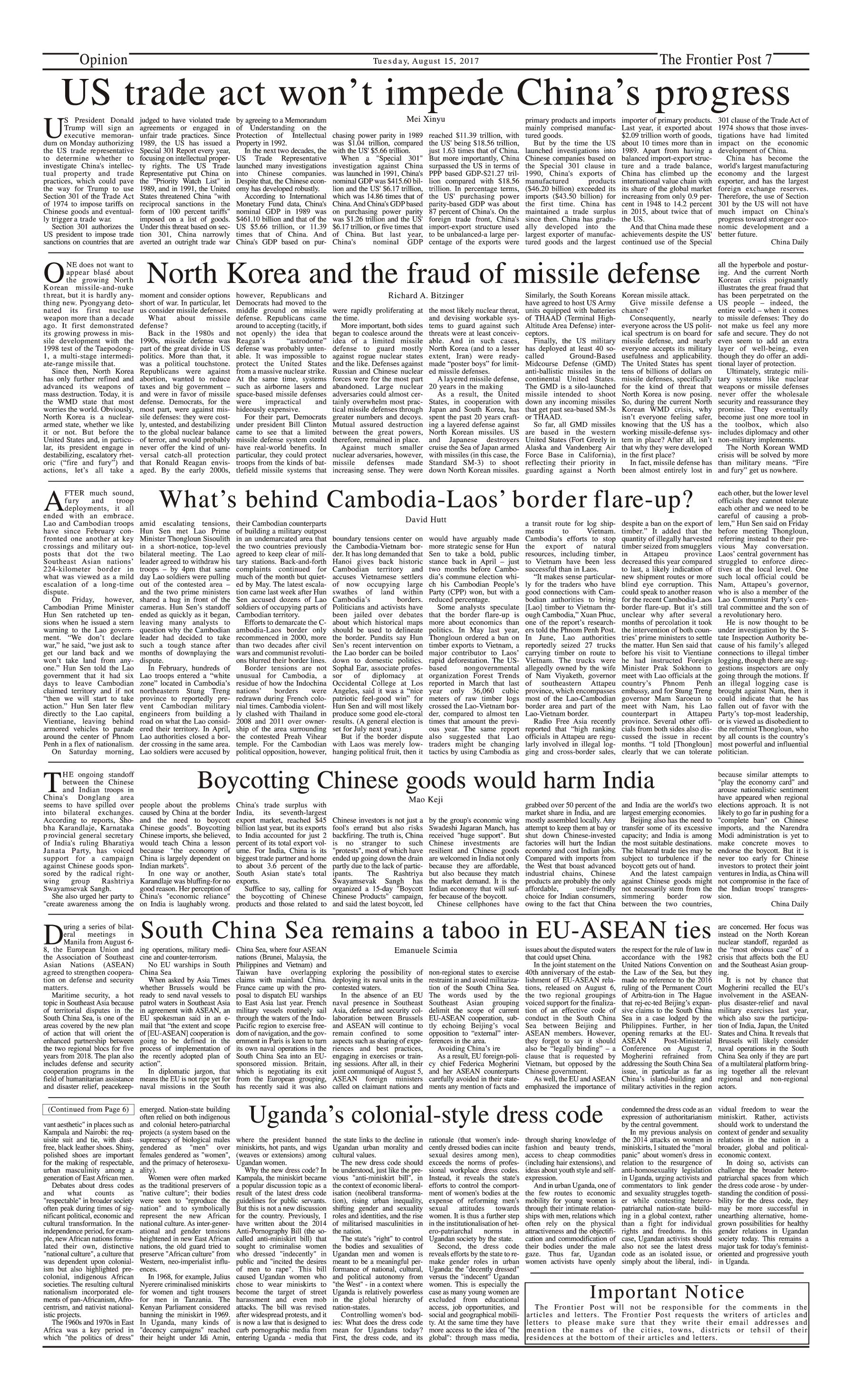 Opinion Page 15