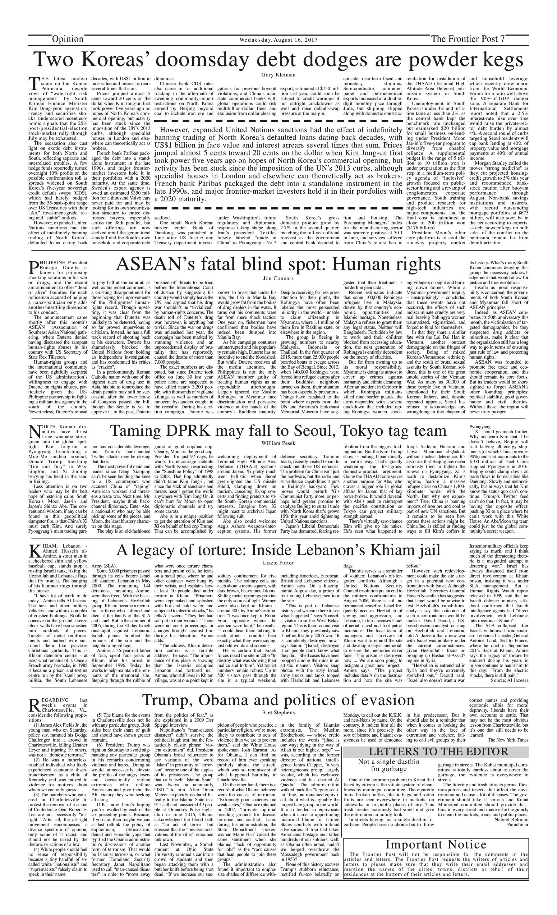 Opinion Page 16