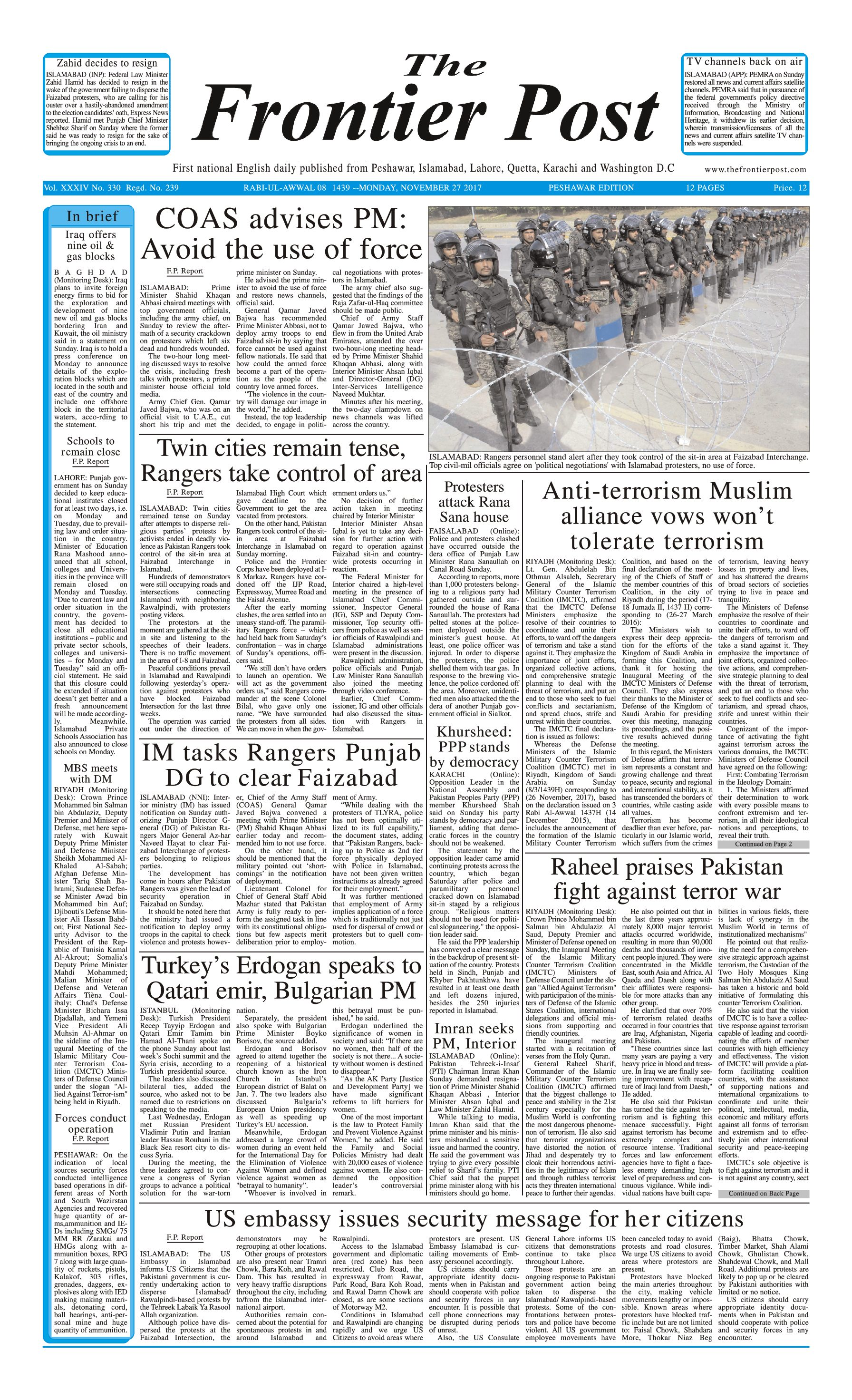 Front Page 27-11