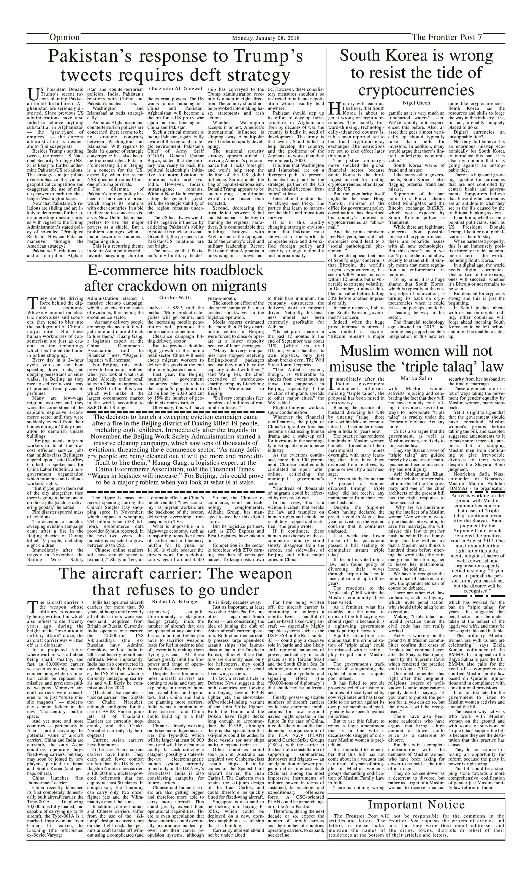Opinion Page 8-1