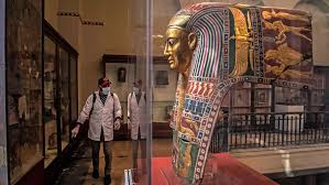 Egypt disinfects landmark museum as virus fears grow