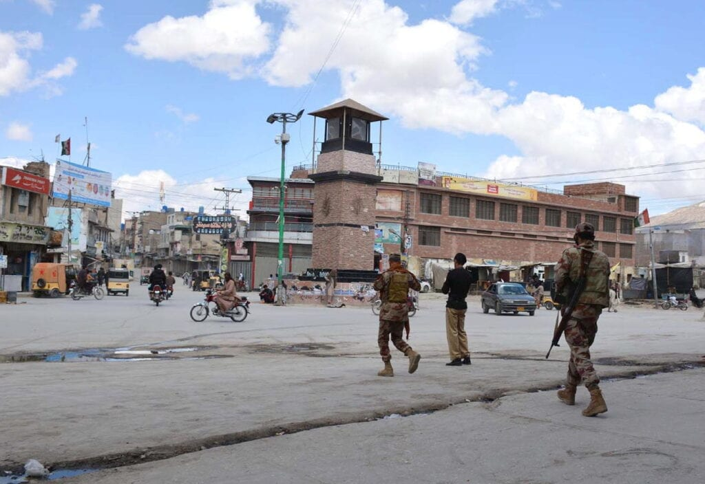 QUETTA:  A view of partial lockdown to fight against the spread of the COVID-19, coronavirus. INP PHOTO by Ahmed Bhatti